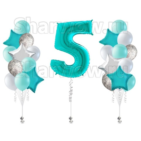 Комплект воздушных шаров Нежный день Рождения