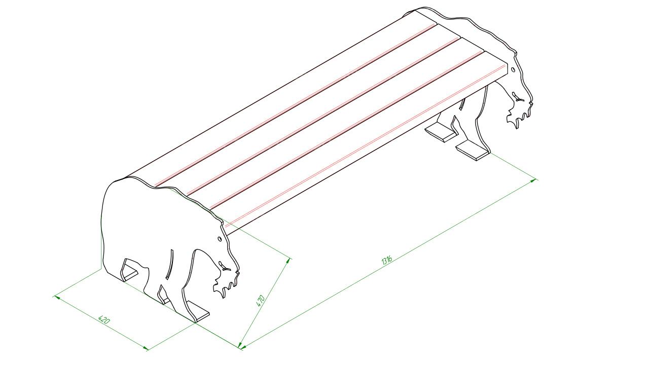 Скамейка детская SCAM0181
