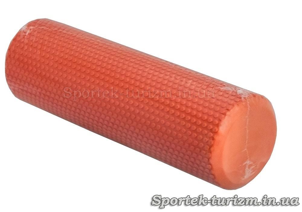 Масажний ролик довжиною 30 і діаметром 9 см з дрібними пухирцями