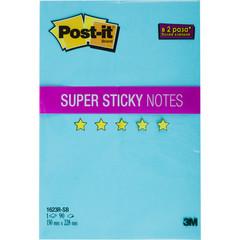 Стикеры Post-it Super Sticky 150х228 мм неоновые синие (1 блок, 90 листов)