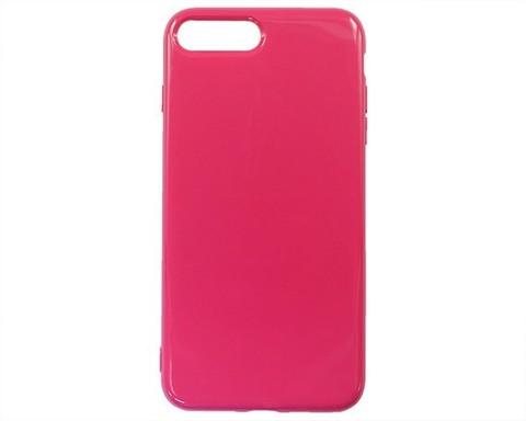Чехол для iPhone 7/8 Plus мягкий силикон | кислотный розовый