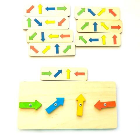 Цветные стрелочки Право-лево-вверх-вниз Сенсорика