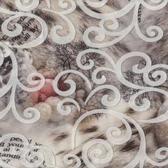 Микровелюр Liana cherry-brown (Лиана черри-браун)