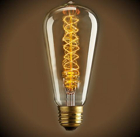 Ретро лампа Эдисон ST64 Spiral