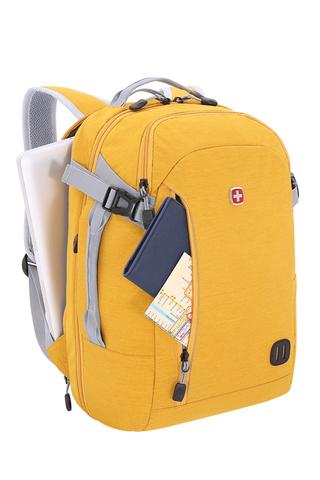 Рюкзак WENGER, цвет желтый, 29 л., 47х31х20 см., отделение для ноутбука 15