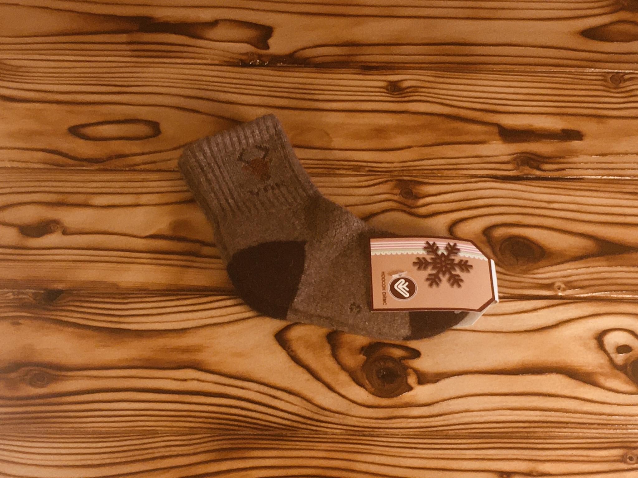 Носки детские из шерсти яка (темно-серые) р.3 фото2