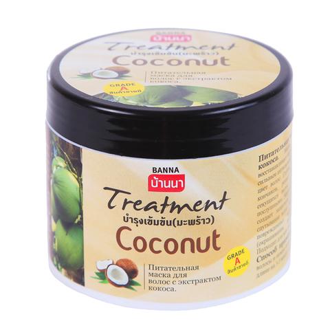 Питательная маска для волос Banna с кокосом. 300 ml.