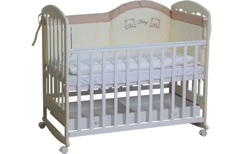 Кровать детская Фея 325 белый-ваниль
