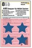 ABS-противоскользящие наклейки Regia для носков синие звезды (8 шт.)