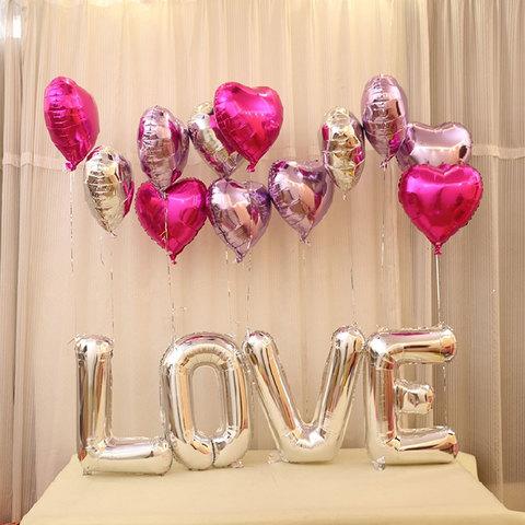 Сет воздушных воздушных шаров LOVE