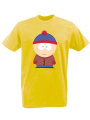 Футболка с принтом мультфильма Южный парк (South Park) желтая 008