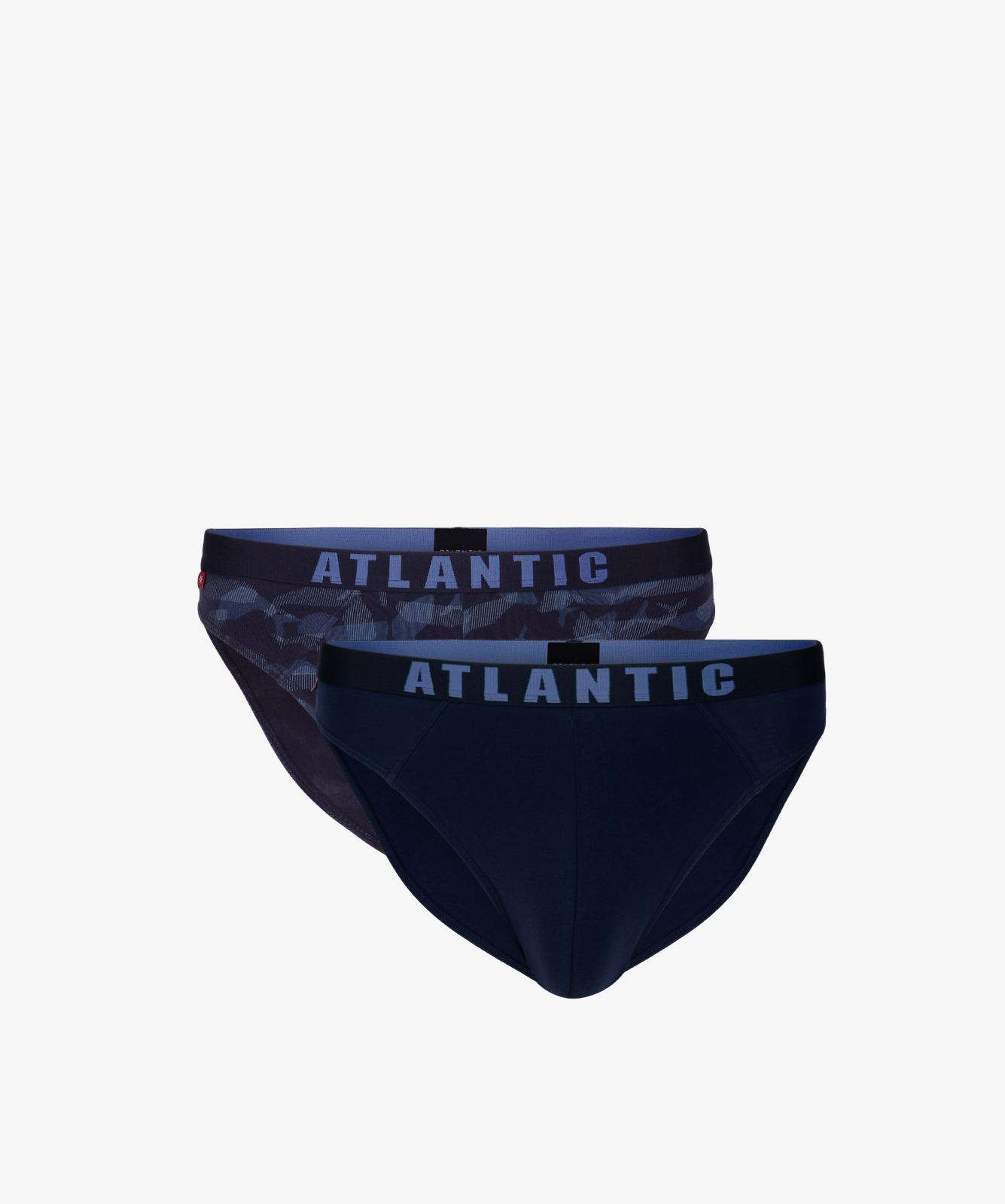 Мужские трусы слипы спорт Atlantic, набор 2 шт., хлопок, темно-синие, 2MP-1559