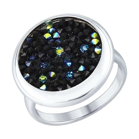 94012429 - Кольцо  из серебра с  кристаллами SWAROVSKI