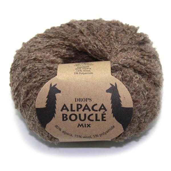 Пряжа Drops Alpaca Boucle 0602 темный беж