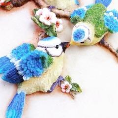 0585 Молд силиконовый Птицы на ветке