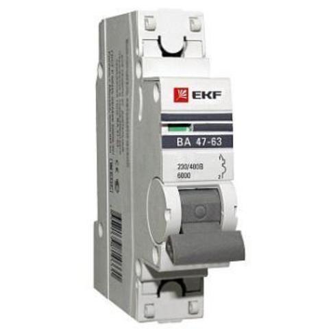 Автоматический выключатель BA 47-63 1P 63A (C) PROxima EKF