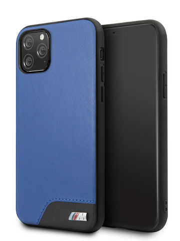 BMW / чехол для iPhone 11 Pro | M-Collection Smooth PU Hard Blue
