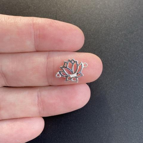 Коннектор Лотос 14,5х11,5 мм серебро 925 1 шт