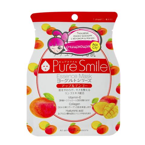 Маска для лица SunSmile на йогуртовой основе с яблоком и манго 22 гр