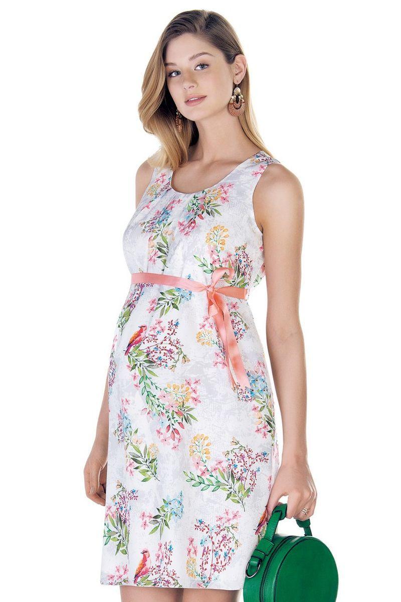 Фото платье для беременных EBRU от магазина СкороМама, цветы, размеры.