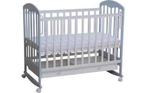 Кровать детская Фея 325 белый-лазурь