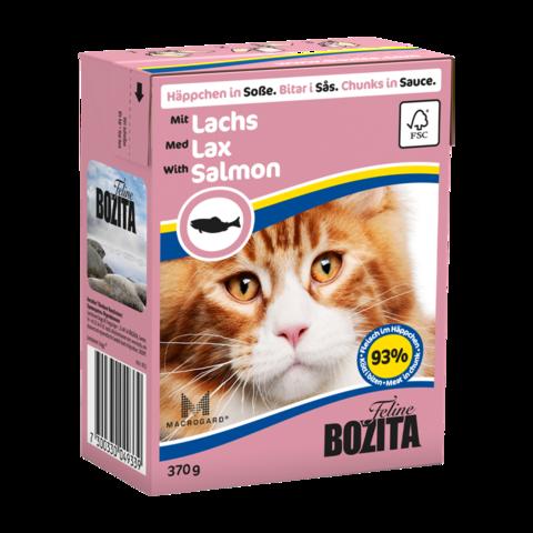 Bozita Консервы для кошек с лососем (кусочки в соусе)