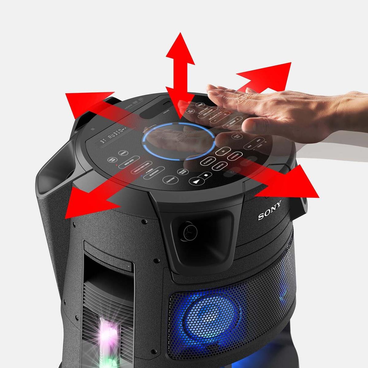 Управление жестами аудиосистемой Sony MHC-V83D