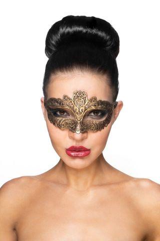 Золотистая карнавальная маска  Саиф