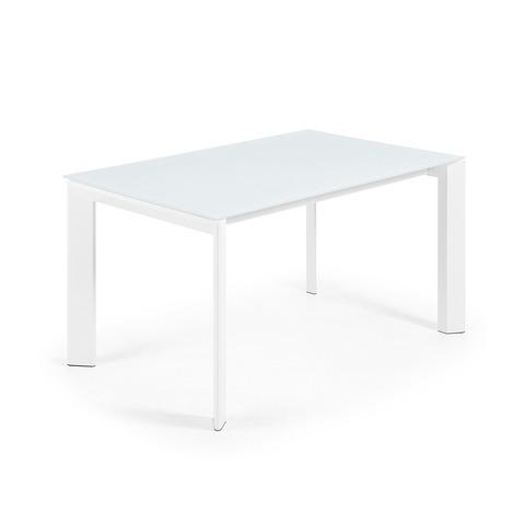 ATTA Стол 140 (200) x90 белый, стекло