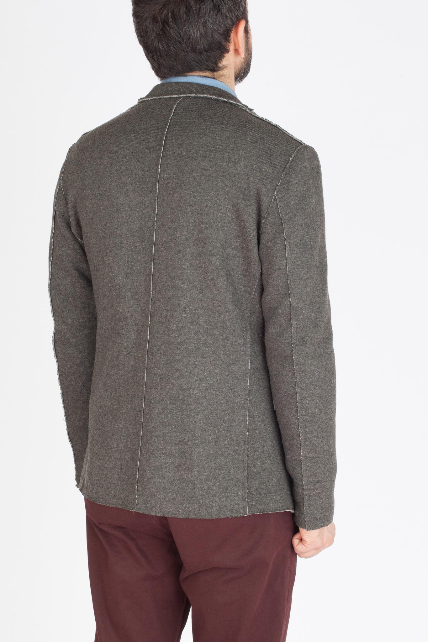 Серый трикотажный пиджак