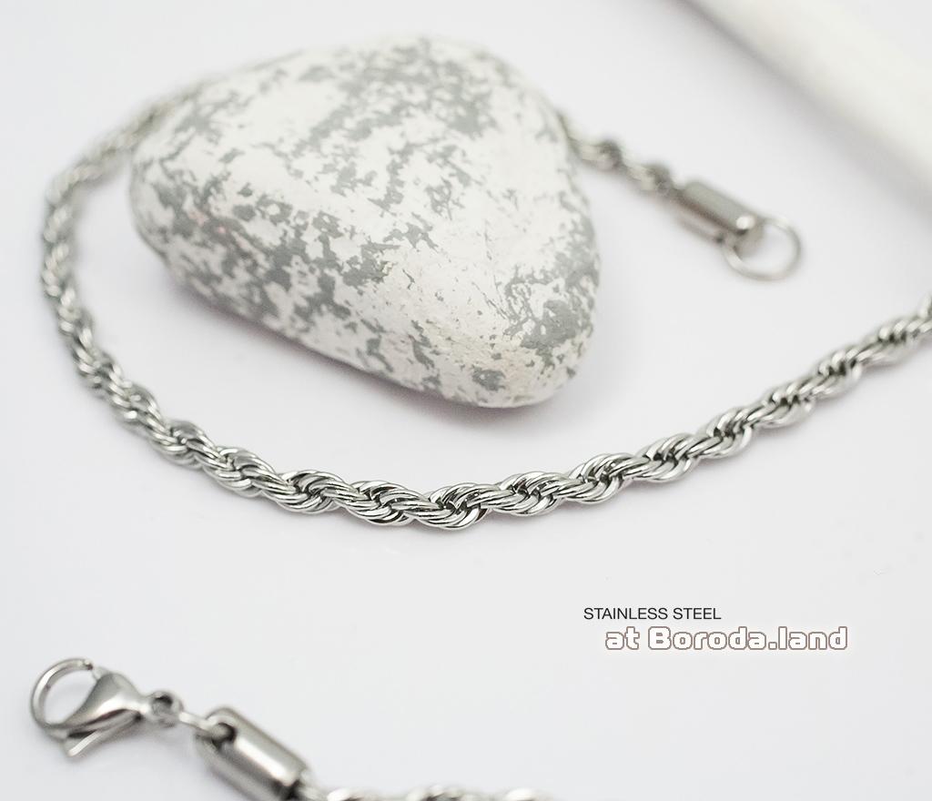 PM177 Тонкая плетеная мужская цепочка из стали (60 см)