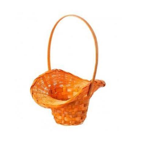 Корзина плетеная Шляпа, (бамбук), D9x14/10xH30см, оранжевый