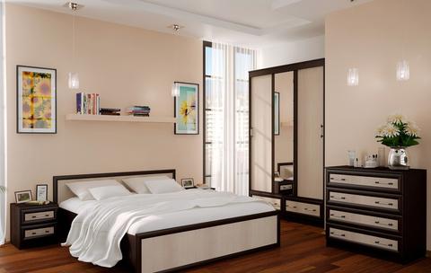 Кровать 1,4м Модерн БТС Венге/лоредо