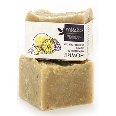 Мико хозяйственное мыло для посуды Лимон 175 г