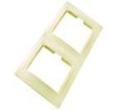 Рамка 2 мест.вертикальная сл.кость Таймыр TDM
