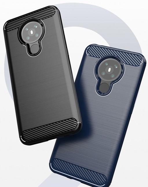 Защитный чехол в стиле карбон на телефон Nokia 5.3, серия Carbon от Caseport