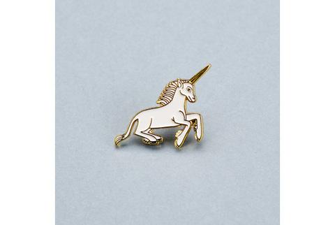 Значок эмалированный Единорог