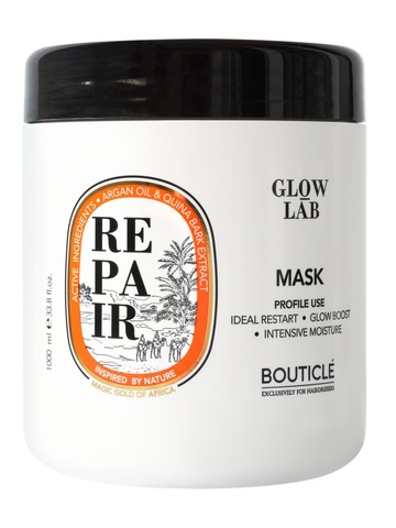 Восстанавливающая маска придающая сияние - Bouticle Glow Lab Argan Repair Illuminating Mask 1000 мл