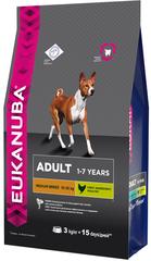 Корм для взрослых собак  средних пород, Eukanuba Dog MEDIUM ADULT