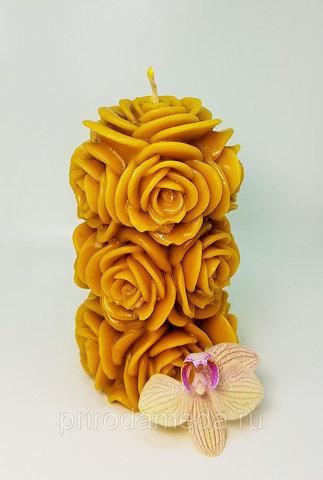 Свеча восковая Розы