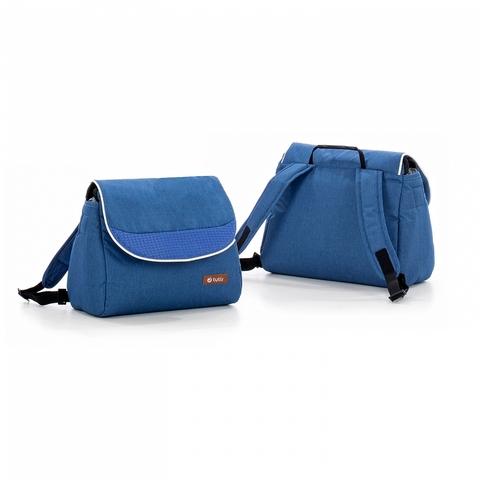 Коляска Tutis MIMI Style 3 в 1 деним, кожа синяя
