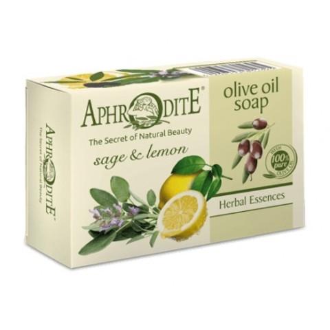 Мыло оливковое с шалфеем и лимоном