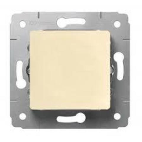 Выключатель одноклавишный - 10 AX - 250 В~. Цвет Cлоновая кость. Legrand Cariva (Легранд Карива). 773756
