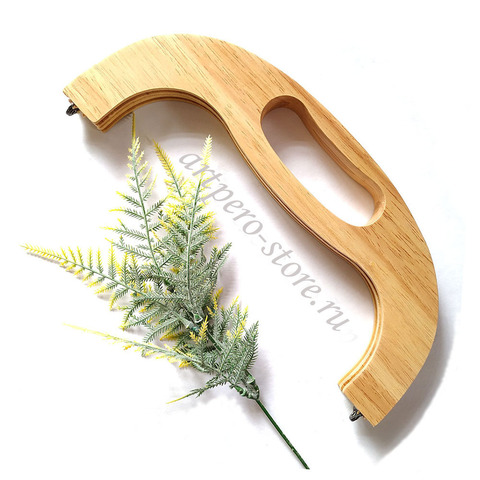 Деревянный фермуар из цельной древесины, с ручкой, 25 см,  на винтах.