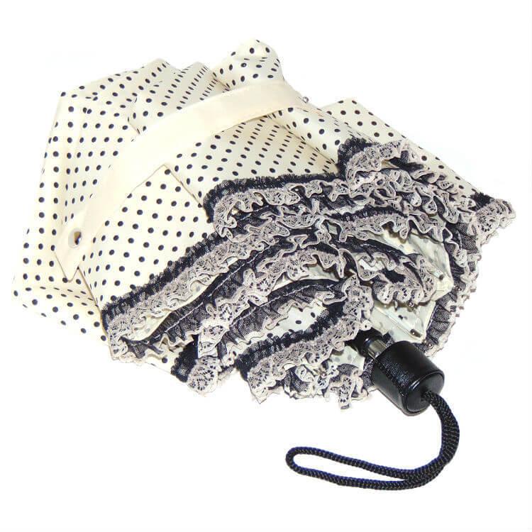 Зонт мини Guy de Jean 7046-1 Pois Volant dentelle