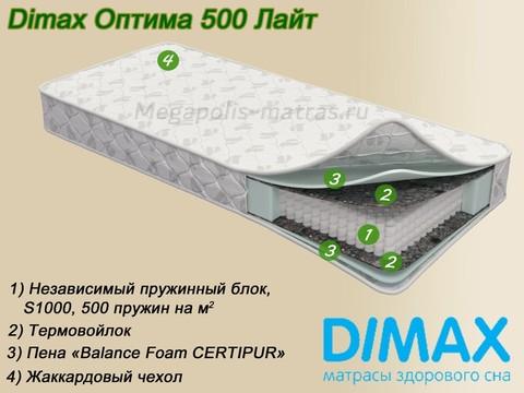 Матрас Dimax Оптима 500 Лайт с описанием на Мегаполис-матрас