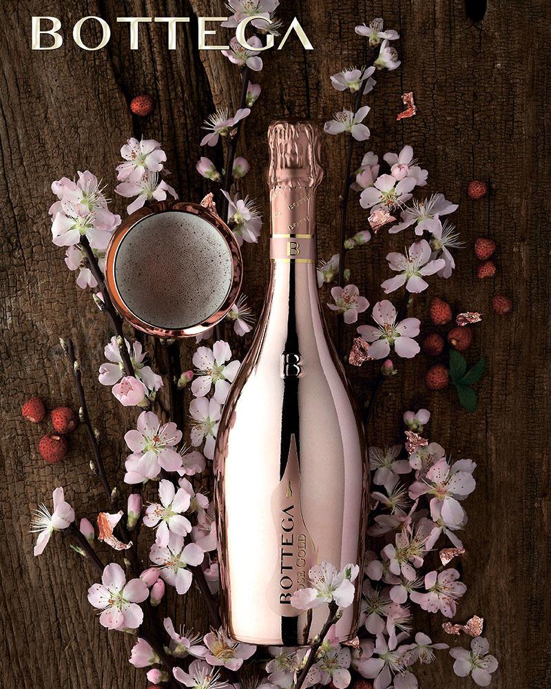 Вино Bottega Gold Розовое Игристое Брют 11,5%, 0,75л.