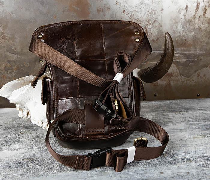 BAG443-2 Вместительная сумка на бедро из натуральной кожи фото 02