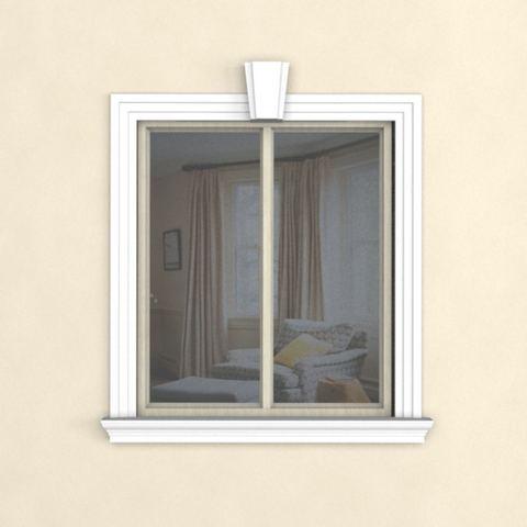 Обрамление окна с профилем 135ПЦ1 подоконник