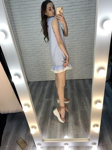 голубой сарафан в полоску интернет магазин